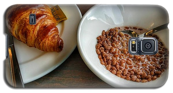 Breakfast Of Cereal And Croissant Galaxy S5 Case by Isabella F Abbie Shores FRSA