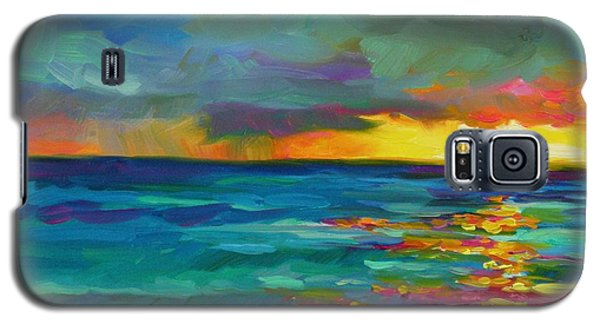 Galaxy S5 Case featuring the painting Breaking Light by Chris Brandley