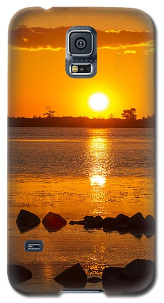 Breakwater Sunset Galaxy S5 Case