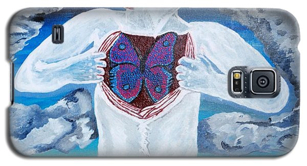 Galaxy S5 Case featuring the painting Breathe Deep by Lisa Brandel