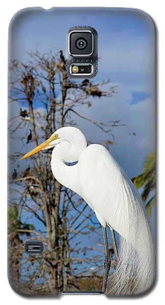 Breezy Egret Galaxy S5 Case by Josy Cue