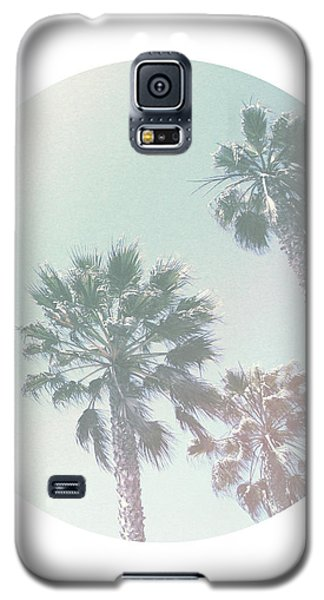 Breezy Palm Trees- Art By Linda Woods Galaxy S5 Case by Linda Woods