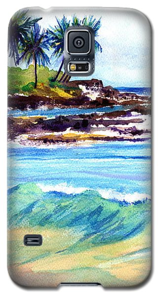 Galaxy S5 Case featuring the painting Brennecke's Beach by Marionette Taboniar