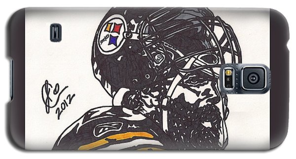 Galaxy S5 Case featuring the drawing Brett Keisel by Jeremiah Colley