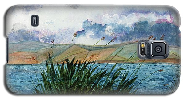 Brewing Storm Over Lake Watercolor Painting Galaxy S5 Case