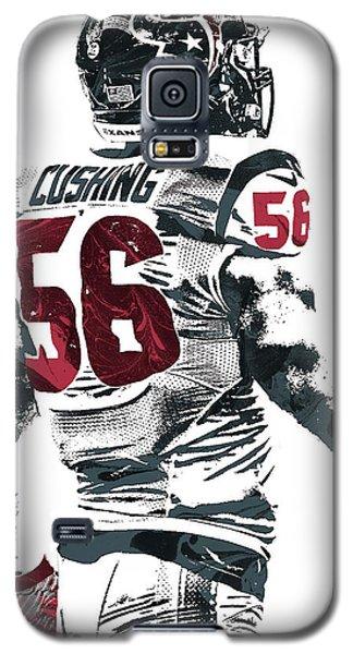 Galaxy S5 Case featuring the mixed media Brian Cushing Houston Texans Pixel Art 2 by Joe Hamilton