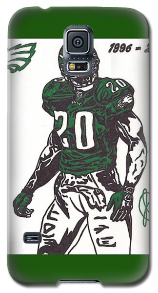 Galaxy S5 Case featuring the drawing Brian Dawkins 3 by Jeremiah Colley