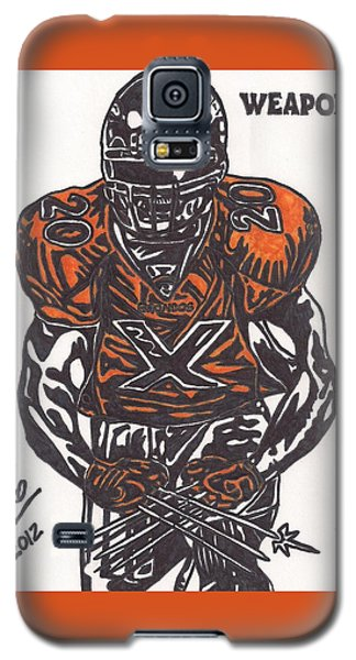 Galaxy S5 Case featuring the drawing Brian Dawkins by Jeremiah Colley