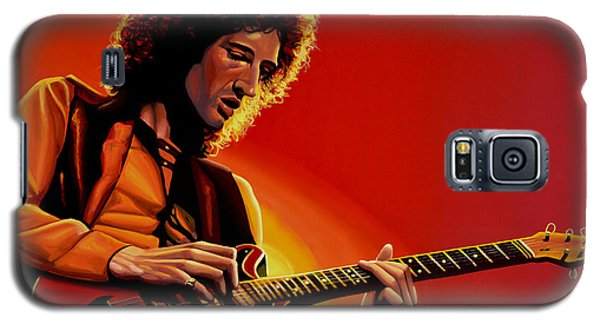Brian May Of Queen Painting Galaxy S5 Case