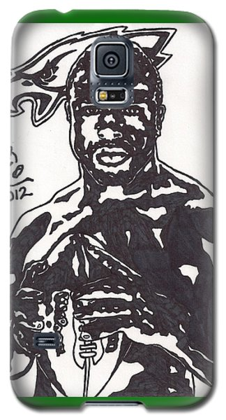 Galaxy S5 Case featuring the drawing Brian Westbrook by Jeremiah Colley