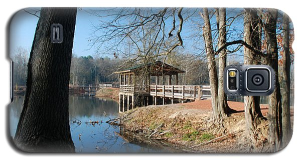 Galaxy S5 Case featuring the photograph Brick Pond Park by Kay Lovingood