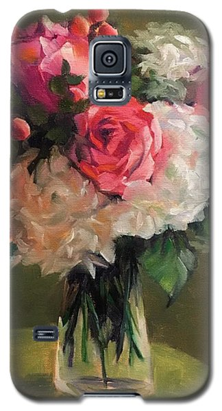 Galaxy S5 Case featuring the painting Bridal Bouquet by Pam Talley