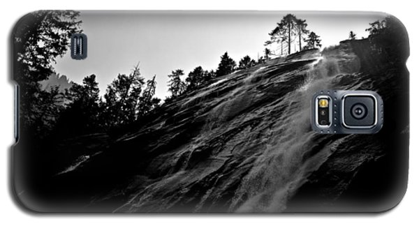 Bridal Veil Falls In Black And White Galaxy S5 Case