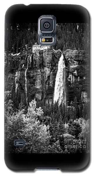 Bridal Veil Falls In Bw Galaxy S5 Case