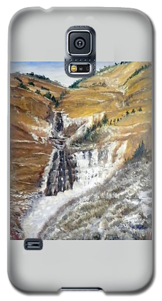 Bridal Veil Falls In Winter Galaxy S5 Case by Sherril Porter