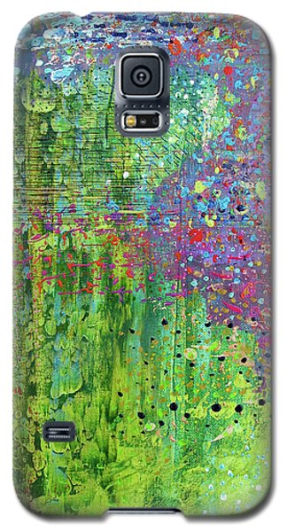 Abstract Green And Pink Galaxy S5 Case