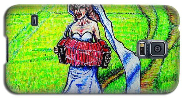 Galaxy S5 Case featuring the painting Bride/sketch/ by Viktor Lazarev