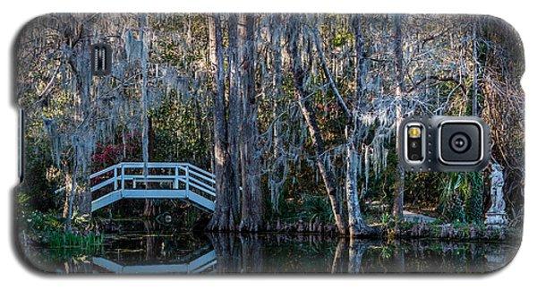 Bridge And Statue At Magnolia Plantation Gardens Galaxy S5 Case