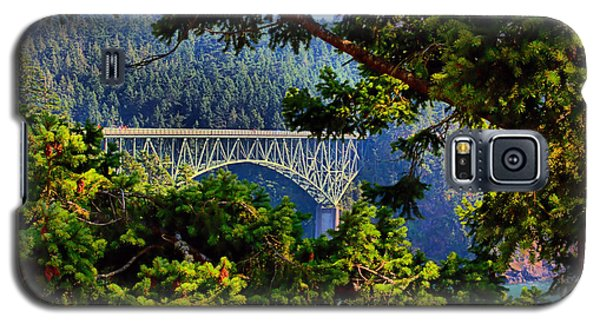 Galaxy S5 Case featuring the photograph Bridge At Deception Pass by Michelle Joseph-Long