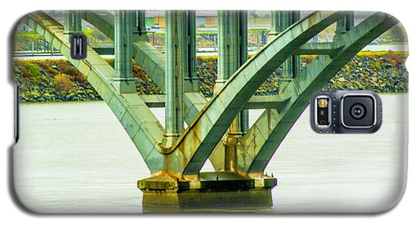 Galaxy S5 Case featuring the photograph Bridge At Gold Beach by Dale Stillman
