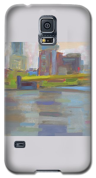 Galaxy S5 Case featuring the painting Bridge by Chris N Rohrbach
