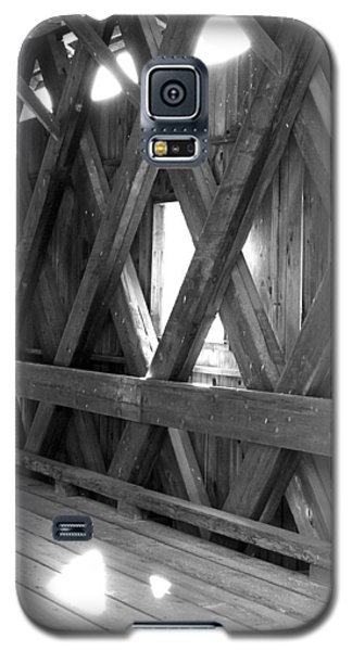 Galaxy S5 Case featuring the photograph Bridge Glow by Greg Fortier