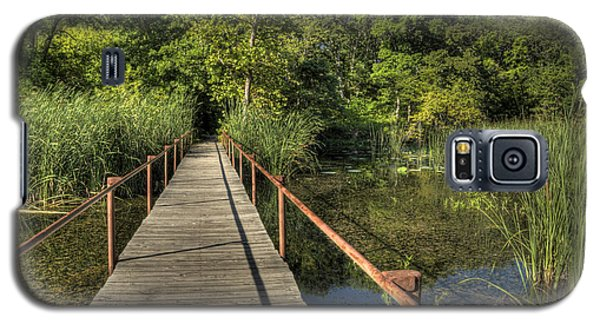 Galaxy S5 Case featuring the photograph Bridge Into The Forest At Lake Murray by Tamyra Ayles