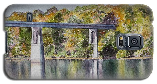 Galaxy S5 Case featuring the painting Bridge Over The Cumberland by Patsy Sharpe