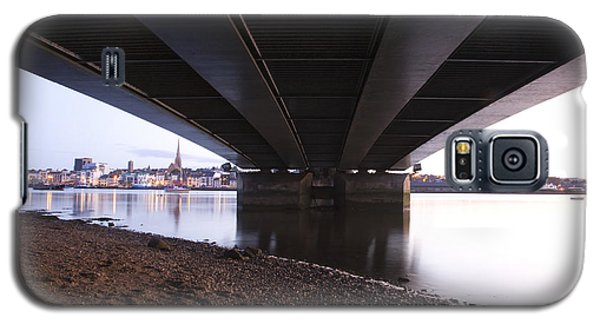Galaxy S5 Case featuring the photograph Bridge Over Wexford Harbour by Ian Middleton