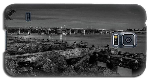 Bridge To Longboat Key In Bw Galaxy S5 Case