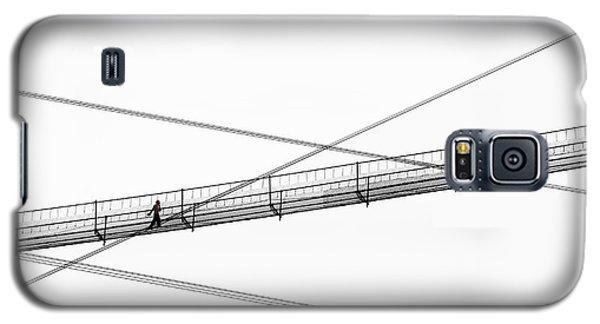 Galaxy S5 Case featuring the photograph Bridge Walker by Joe Bonita