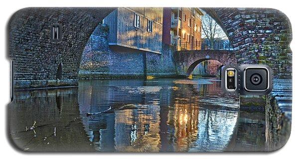 Galaxy S5 Case featuring the photograph Bridges Across Binnendieze In Den Bosch by Frans Blok