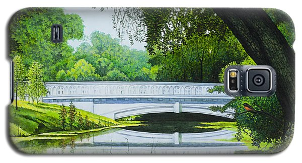 Galaxy S5 Case featuring the painting Bridges Of Forest Park IIi by Michael Frank