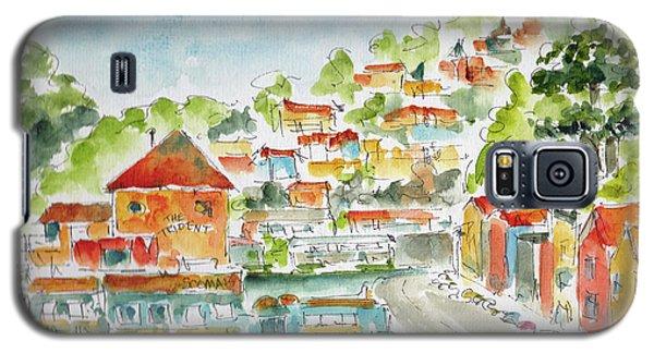 Galaxy S5 Case featuring the painting Bridgeway Boulevard Sausalito by Pat Katz