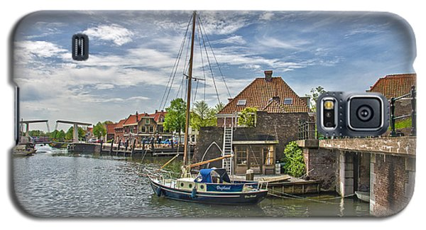 Galaxy S5 Case featuring the photograph Brielle Harbour by Frans Blok