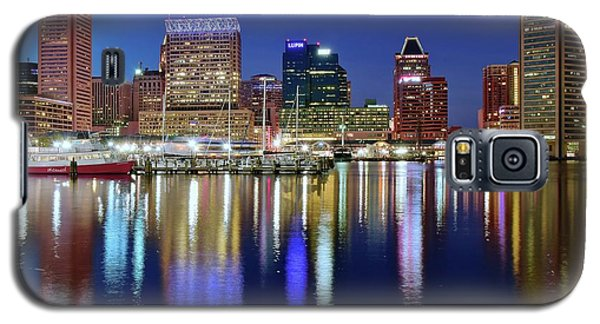 Galaxy S5 Case featuring the photograph Bright Blue Baltimore Night by Frozen in Time Fine Art Photography
