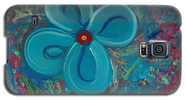 Galaxy S5 Case featuring the painting Bright Blue by John Keaton