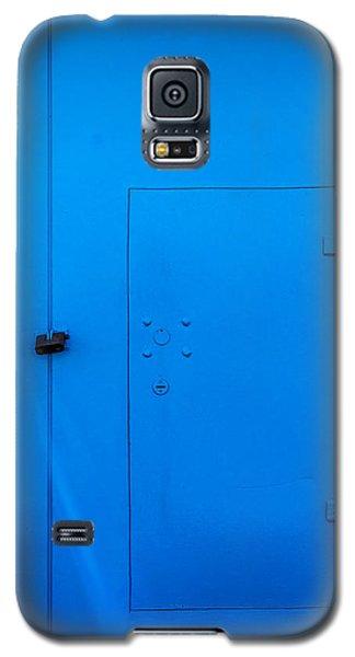 Bright Blue Locked Door And Padlock Galaxy S5 Case