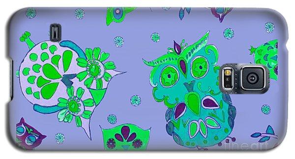 Bright Eyed Owls Galaxy S5 Case by Beth Saffer
