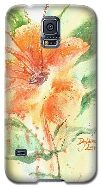 Bright Orange Flower Galaxy S5 Case