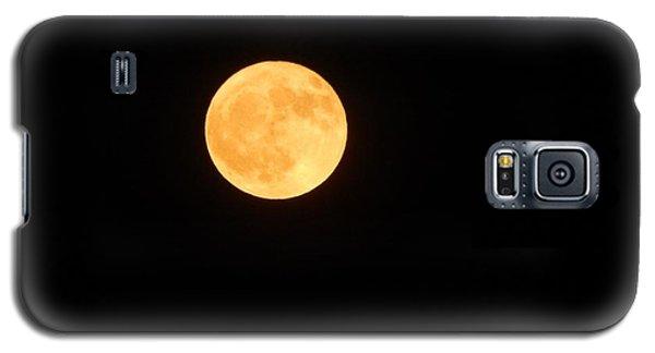Bright Orange Moon Galaxy S5 Case
