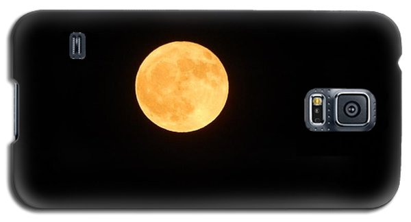 Bright Orange Moon Galaxy S5 Case