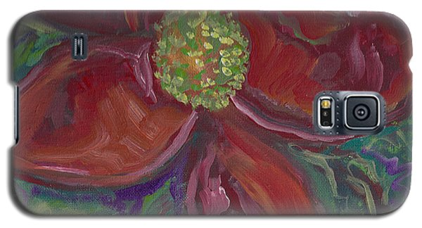 Galaxy S5 Case featuring the painting Bright Red by John Keaton