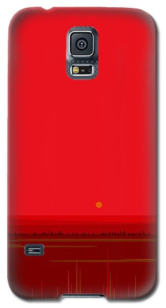 Bright Red Sunset Landscape Galaxy S5 Case