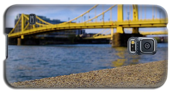 Bright Yellow Bridge In Downtown Pittsburgh Pennsylvania Galaxy S5 Case