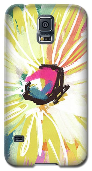 Bright Yellow Flower- Art By Linda Woods Galaxy S5 Case by Linda Woods