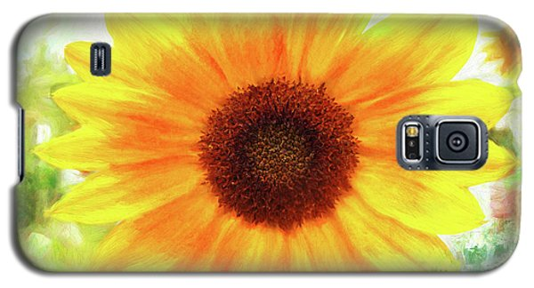 Bright Yellow Sunflower - Painted Summer Sunshine Galaxy S5 Case