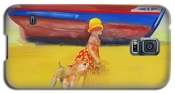 Brightly Painted Wooden Boats With Terrier And Friend Galaxy S5 Case