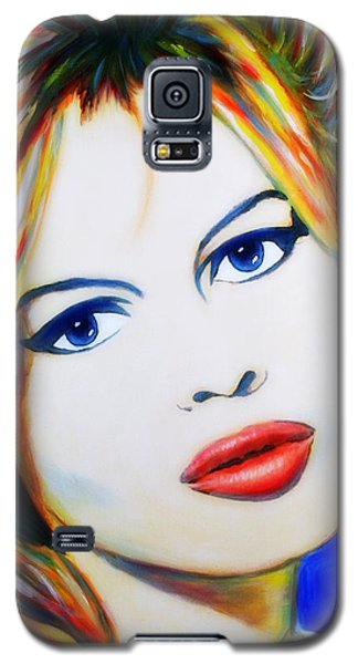 Brigitte Bardot Pop Art Portrait Galaxy S5 Case