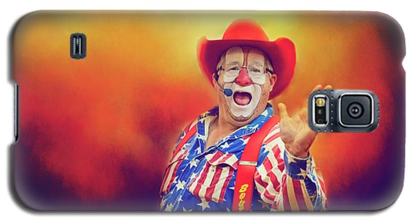 Galaxy S5 Case featuring the photograph Bringing Fun To The Rodeo Greek Ellick Jr.  by Toni Hopper